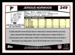 2006 Topps #349  Jerious Norwood  Back Thumbnail