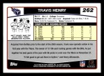 2006 Topps #262  Travis Henry  Back Thumbnail