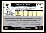 2006 Topps #377  Maurice Drew  Back Thumbnail
