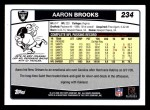 2006 Topps #234  Aaron Brooks  Back Thumbnail