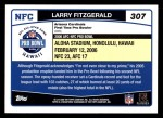 2006 Topps #307   -  Larry Fitzgerald All-Pro Back Thumbnail