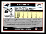 2006 Topps #206  Steve Smith  Back Thumbnail