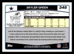 2006 Topps #348  Skyler Green  Back Thumbnail