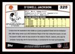 2006 Topps #325  D'Qwell Jackson  Back Thumbnail