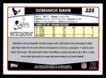 2006 Topps #228  Domanick Davis  Back Thumbnail