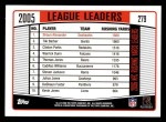 2006 Topps #279  Shaun Alexander  Back Thumbnail