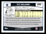 2006 Topps #259  Roy Williams  Back Thumbnail