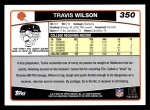 2006 Topps #350  Travis Wilson  Back Thumbnail