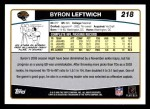 2006 Topps #218  Byron Leftwich  Back Thumbnail