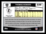 2006 Topps #335  Thomas Howard  Back Thumbnail