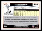 2006 Topps #328  Elvis Dumervil  Back Thumbnail