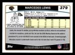 2006 Topps #379  Markedes Lewis  Back Thumbnail
