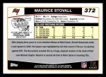 2006 Topps #372  Maurice Stovall  Back Thumbnail