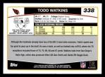 2006 Topps #338  Todd Watkins  Back Thumbnail