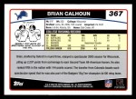 2006 Topps #367  Brian Calhoun  Back Thumbnail