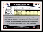 2006 Topps #373  Laurence Maroney  Back Thumbnail