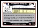 2006 Topps #373  Laurence Maroney  Back Thumbnail