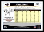 2006 Topps #233  Isaac Bruce  Back Thumbnail