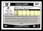 2006 Topps #203  Ronald Curry  Back Thumbnail