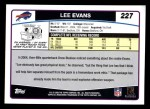 2006 Topps #227  Lee Evans  Back Thumbnail