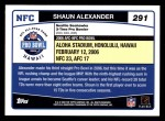 2006 Topps #291   -  Shaun Alexander All-Pro Back Thumbnail