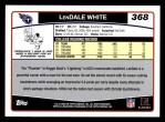 2006 Topps #368  LenDale White  Back Thumbnail