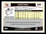 2006 Topps #243  Dante Hall  Back Thumbnail