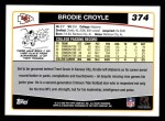 2006 Topps #374  Brodie Croyle  Back Thumbnail