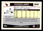 2006 Topps #202  Edgerrin James  Back Thumbnail