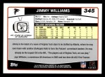 2006 Topps #345  Jimmy Williams  Back Thumbnail