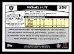 2006 Topps #356  Michael Huff  Back Thumbnail