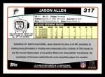 2006 Topps #317  Jason Allen  Back Thumbnail