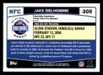 2006 Topps #305   -  Jake Delhomme All-Pro Back Thumbnail