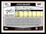 2006 Topps #260  Javon Walker  Back Thumbnail