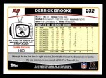 2006 Topps #232  Derrick Brooks  Back Thumbnail