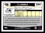 2006 Topps #324  P.J. Daniels  Back Thumbnail