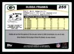 2006 Topps #255  Bubba Franks  Back Thumbnail