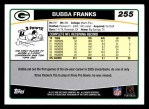 2006 Topps #255  Bubba Franks  Back Thumbnail