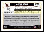 2006 Topps #253  Antrel Rolle  Back Thumbnail