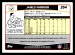 2006 Topps #264  James Farrior  Back Thumbnail
