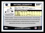 2006 Topps #327  Antonio Cromartie  Back Thumbnail