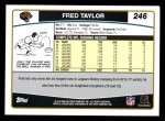 2006 Topps #246  Fred Taylor  Back Thumbnail