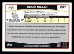 2006 Topps #231  Heath Miller  Back Thumbnail