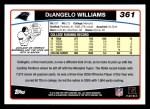 2006 Topps #361  DeAngelo Williams  Back Thumbnail