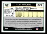 2006 Topps #336  Cory Rodgers  Back Thumbnail