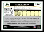 2006 Topps #336  Cory Rodgers  Back Thumbnail