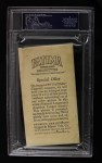 1913 T200 Fatima #5   New York Nationals Back Thumbnail