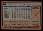 1978 Topps #105  Reggie Cleveland  Back Thumbnail