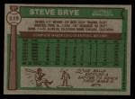1976 Topps #519  Steve Brye  Back Thumbnail