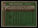 1976 Topps #578  Ted Kubiak  Back Thumbnail